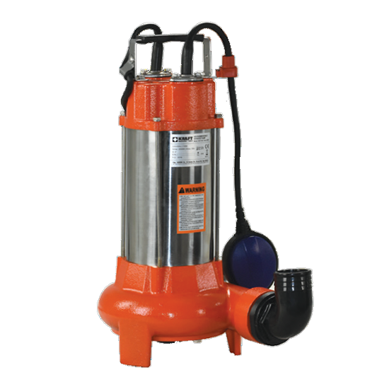 Υποβρύχια Αντλία Λυμάτων INOX με κοπτήρα KRAFT 63557