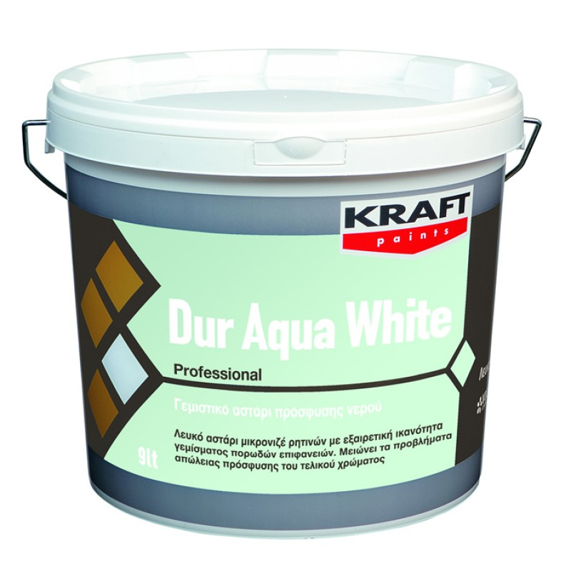 Dur Aqua White 3LT Kraft λευκό αστάρι ρητινών
