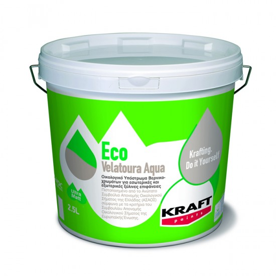 Eco Velatoura Aqua kraft 0,75LT οικολογικό υπόστρωμα νερού βερνικοχρωμάτων