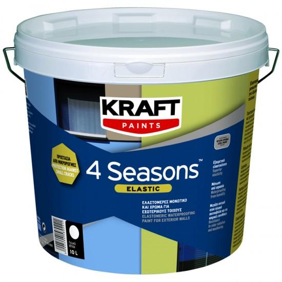 4 Seasons Elastic Kraft 10LT ελαστομερές μονωτικό και χρώμα