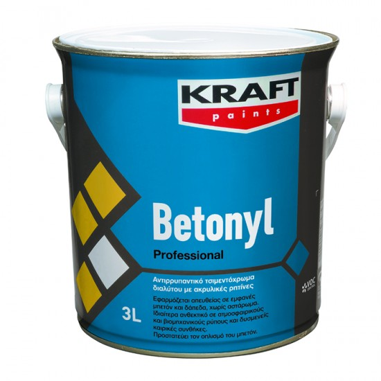 Betonyl Kraft  3LT αντιρρυπαντικό τσιμεντόχρωμα
