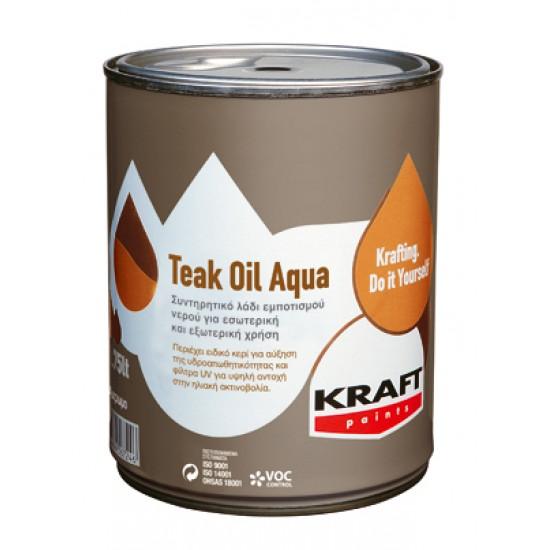 Teak Oil Aqua Kraft 0,75LT  συντηρητικό λάδι εμποτισμού νερού