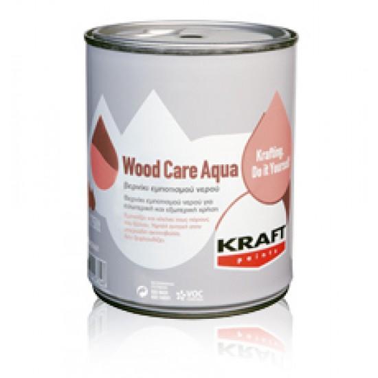 Wood Care Aqua Kraft 0,75LT Συντηρητικό+Βερνίκι Εμποτισμού Νερού