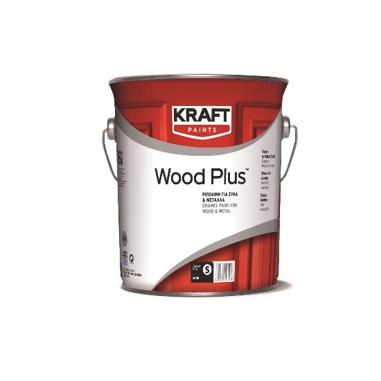 Wood Plus 0,75LT Kraft ριπολίνη για ξύλα και μέταλλα γυαλιστερή