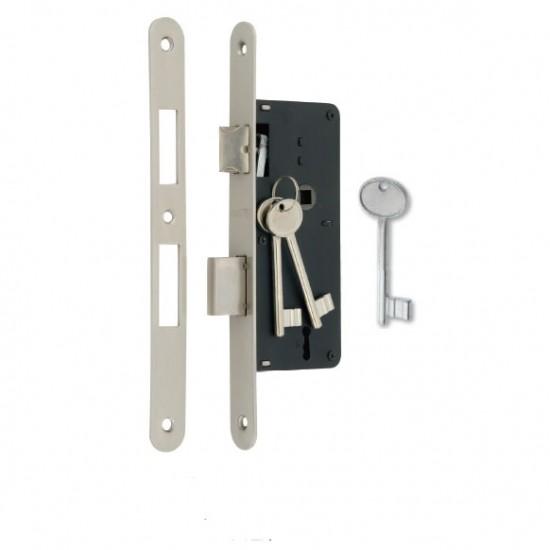 Κλειδαριά 7010/40x75mm οβάλ/οβάλ