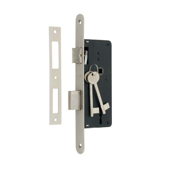 Κλειδαριά 7010/40x75mm οβάλ/τετράγωνη
