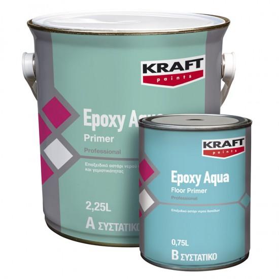 Epoxy Aqua Floor Primer Kraft εποξειδικό αστάρι 2 συστατικών (Α:0,75lt-Β:0,25lt)