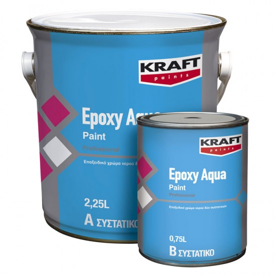 Epoxy Aqua Paint Kraft εποξειδικό χρώμα 2 συστατικών (Α:0,75lt-Β:0,25lt)